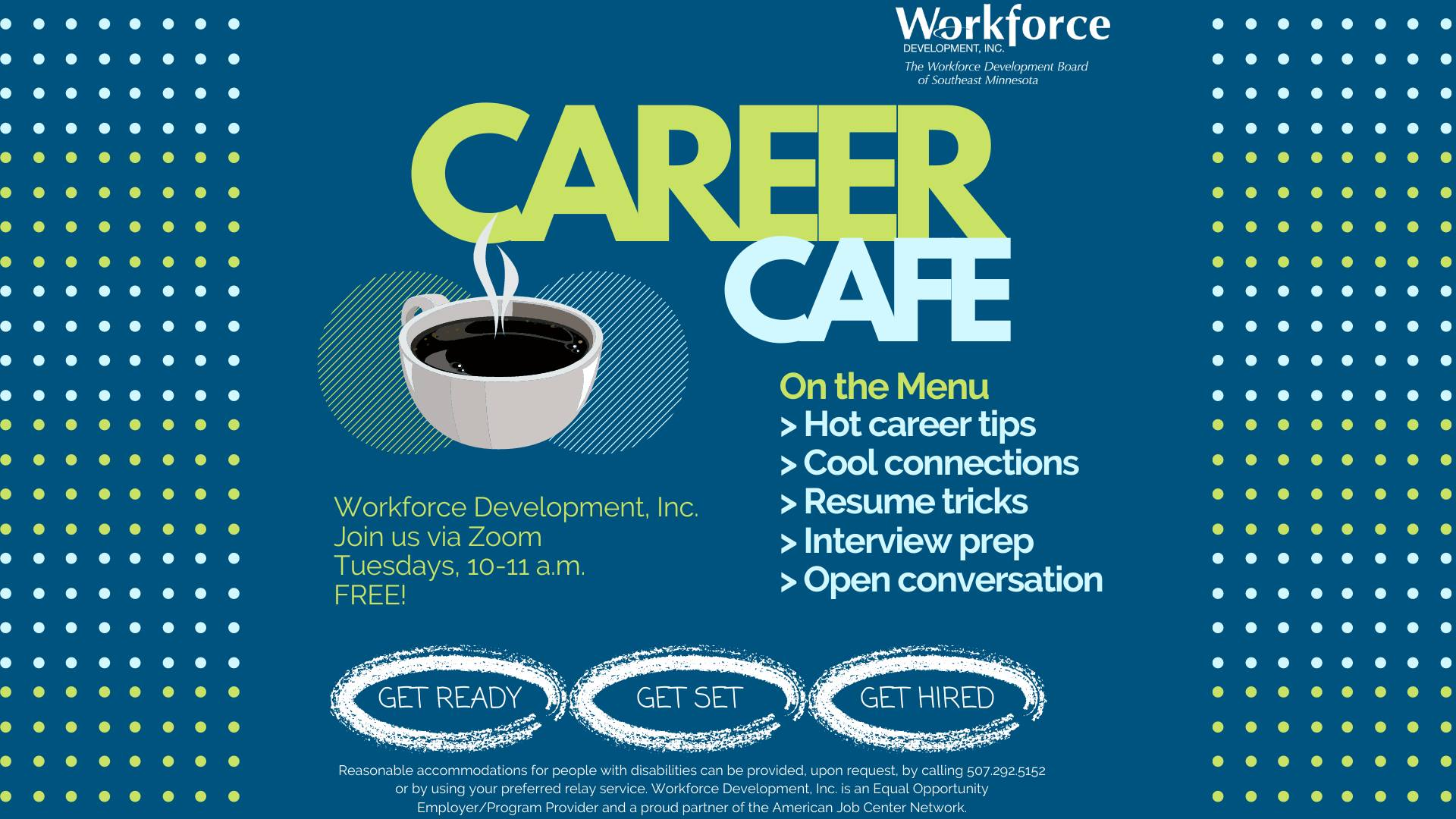 Career Café: Making a Good First Impression and the Elevator Pitch